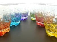 Hand Painted Colourful Glass Tumblers
